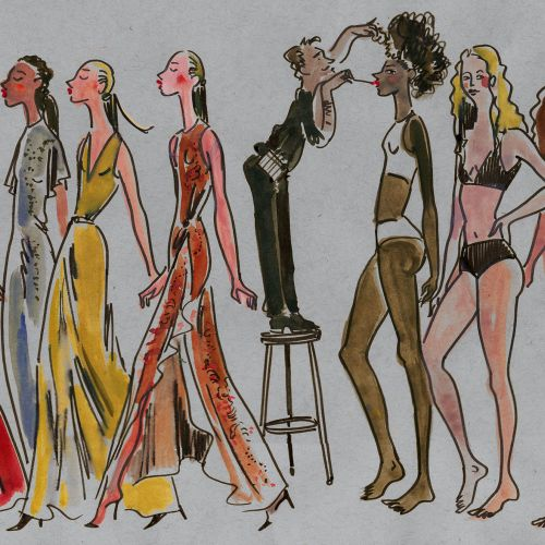 Fashion illustration of Model bots