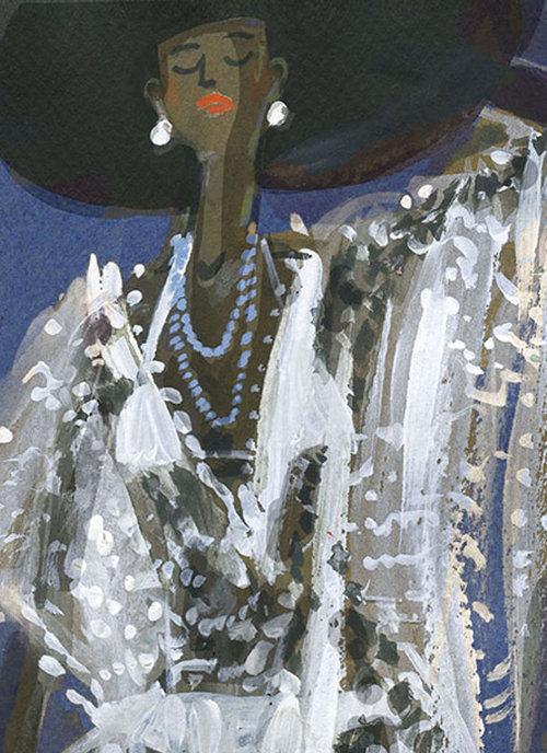 Illustration de mode de la tenue de Hampton