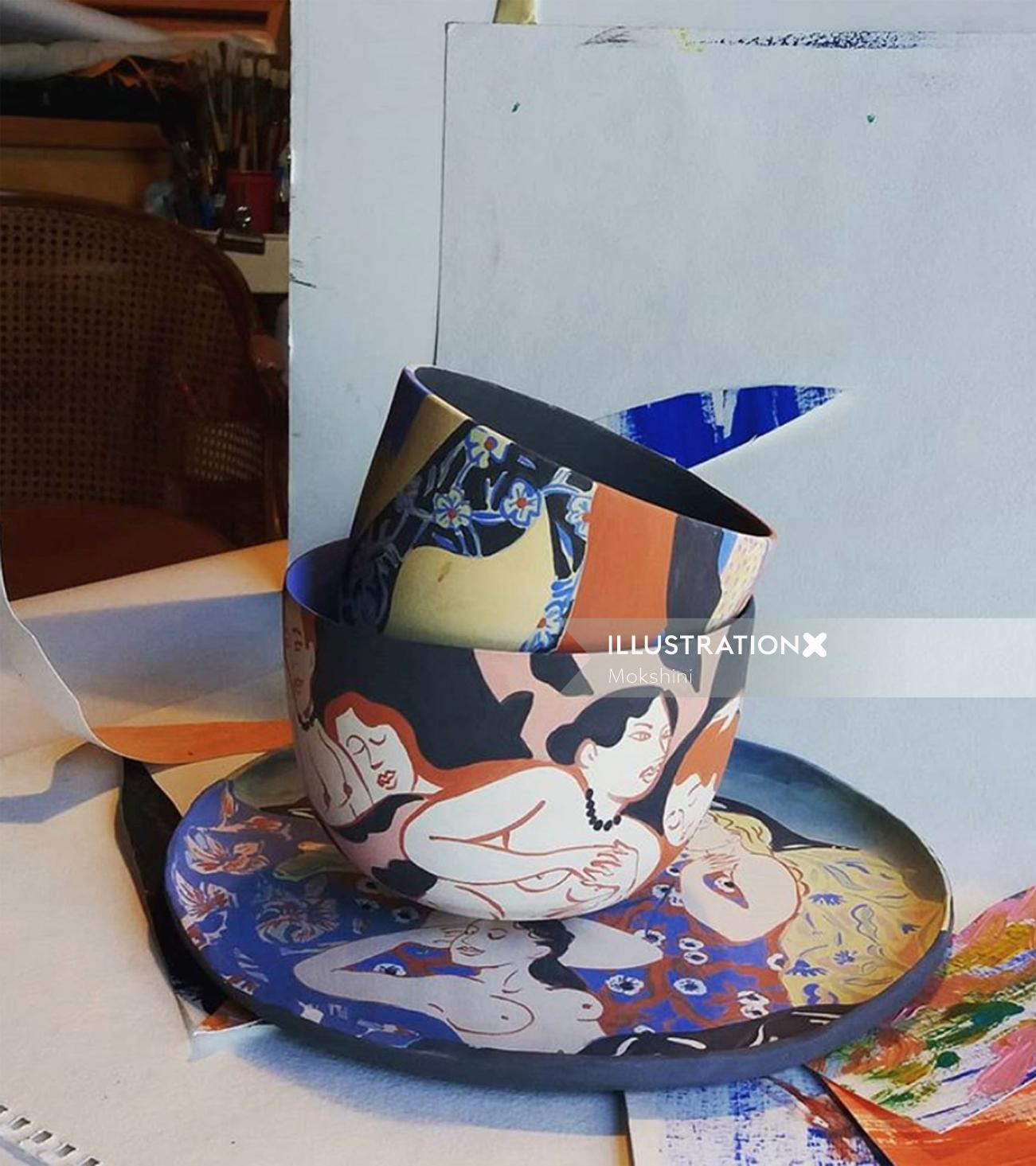 Live Hand-painted ceramics