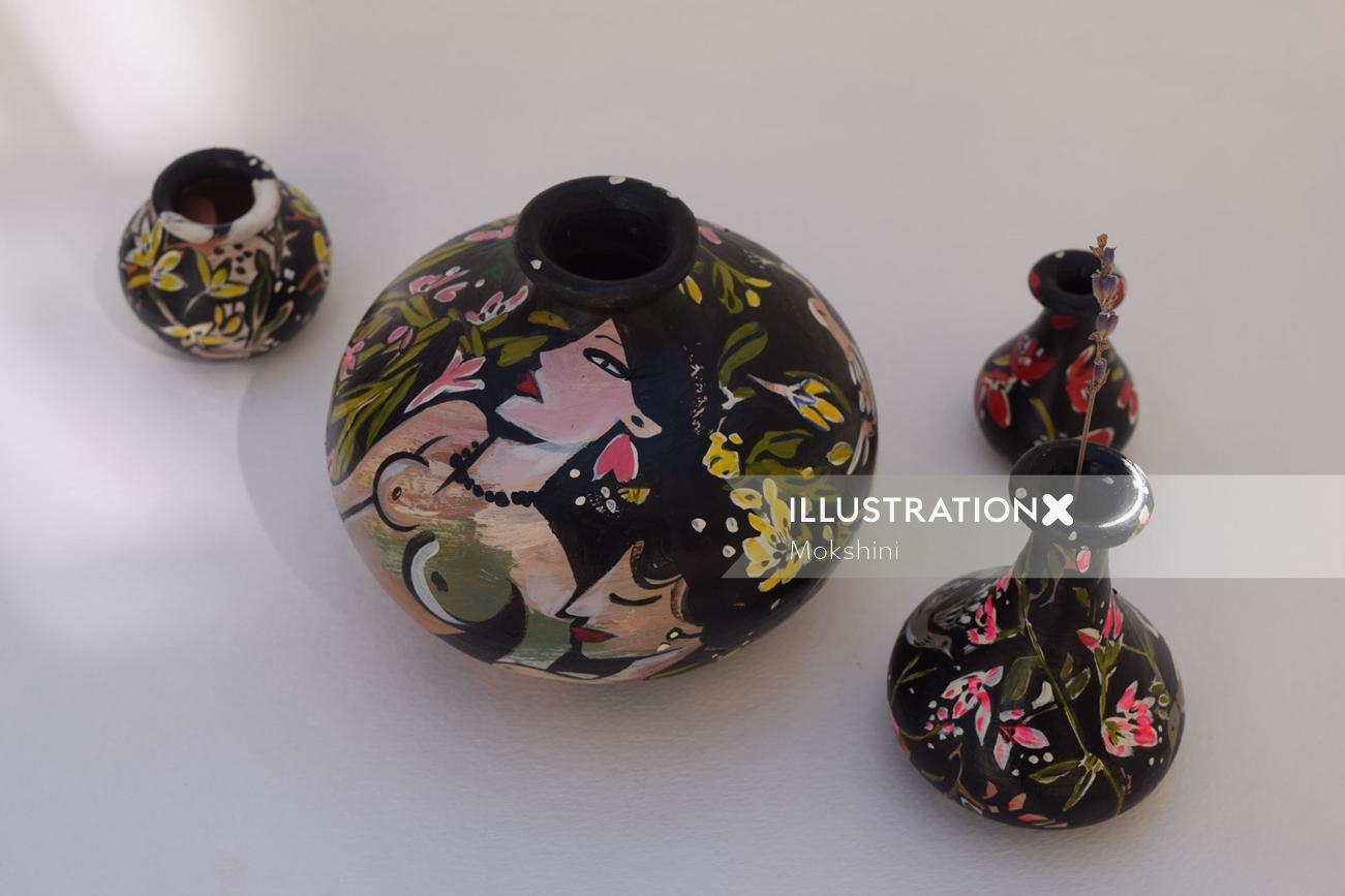 Illustration of ceramics by Mokshini