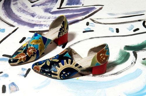 Illustration de chaussures peintes à la main