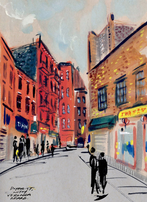 Sketchbook: Doyer St, New York