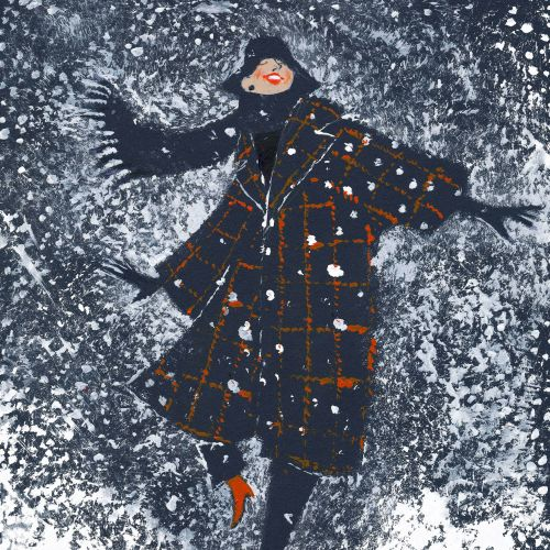 Illustration of it's snowing
