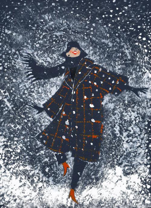 Illustration de la neige