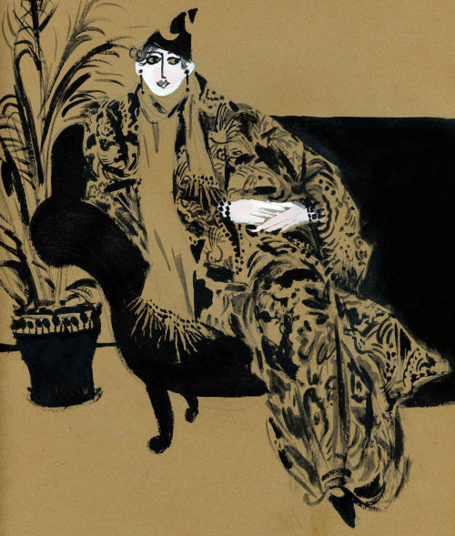 Fashion illustration of Tziporah Salamon