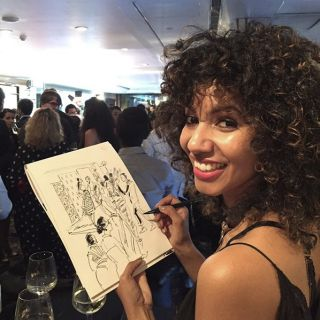Mokshini Live Event Drawing's Photo - Live Event Illustrator based in New York
