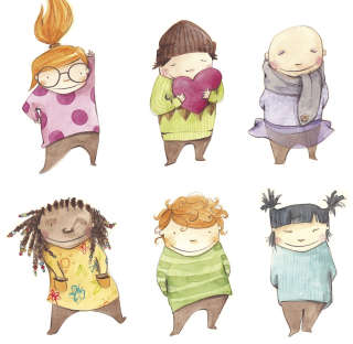 Kids characters illustration by Mariajose