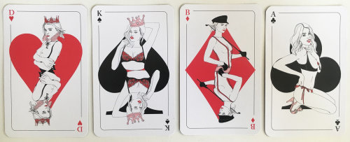 Fashion illustration of woman on cards