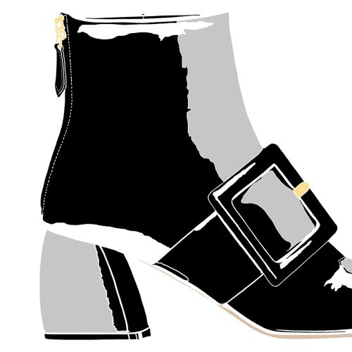 black and grey clipart of womens boot