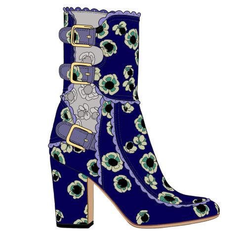 花卉marco tozzi长靴子图
