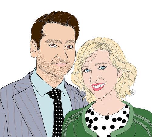 蒙大拿州福布斯夫妇的肖像插图