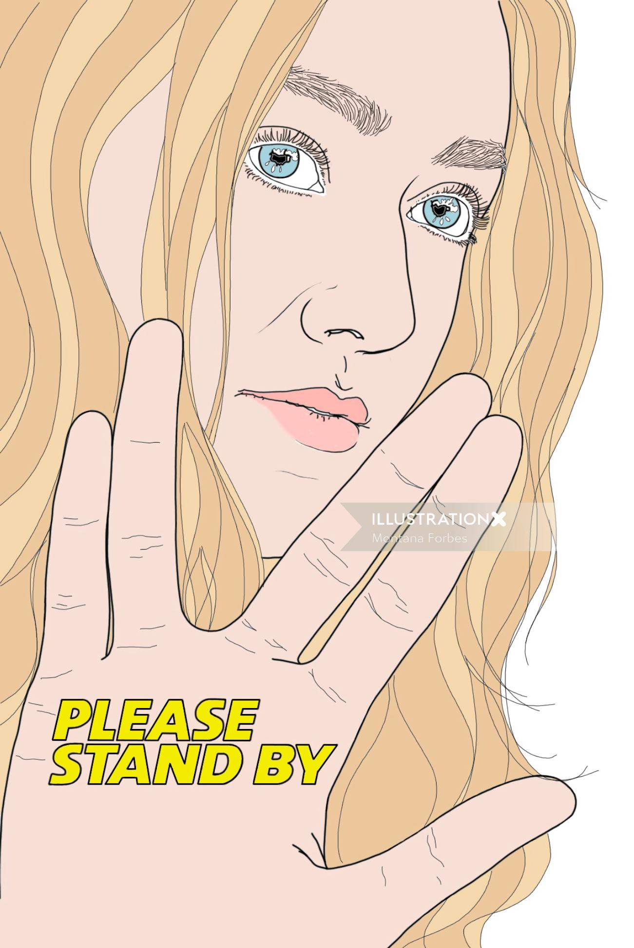 Dakota Fanning portrait art