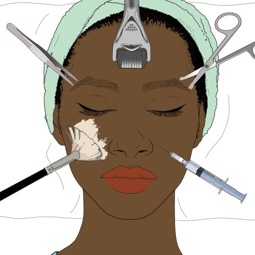 Beauty facial treatment