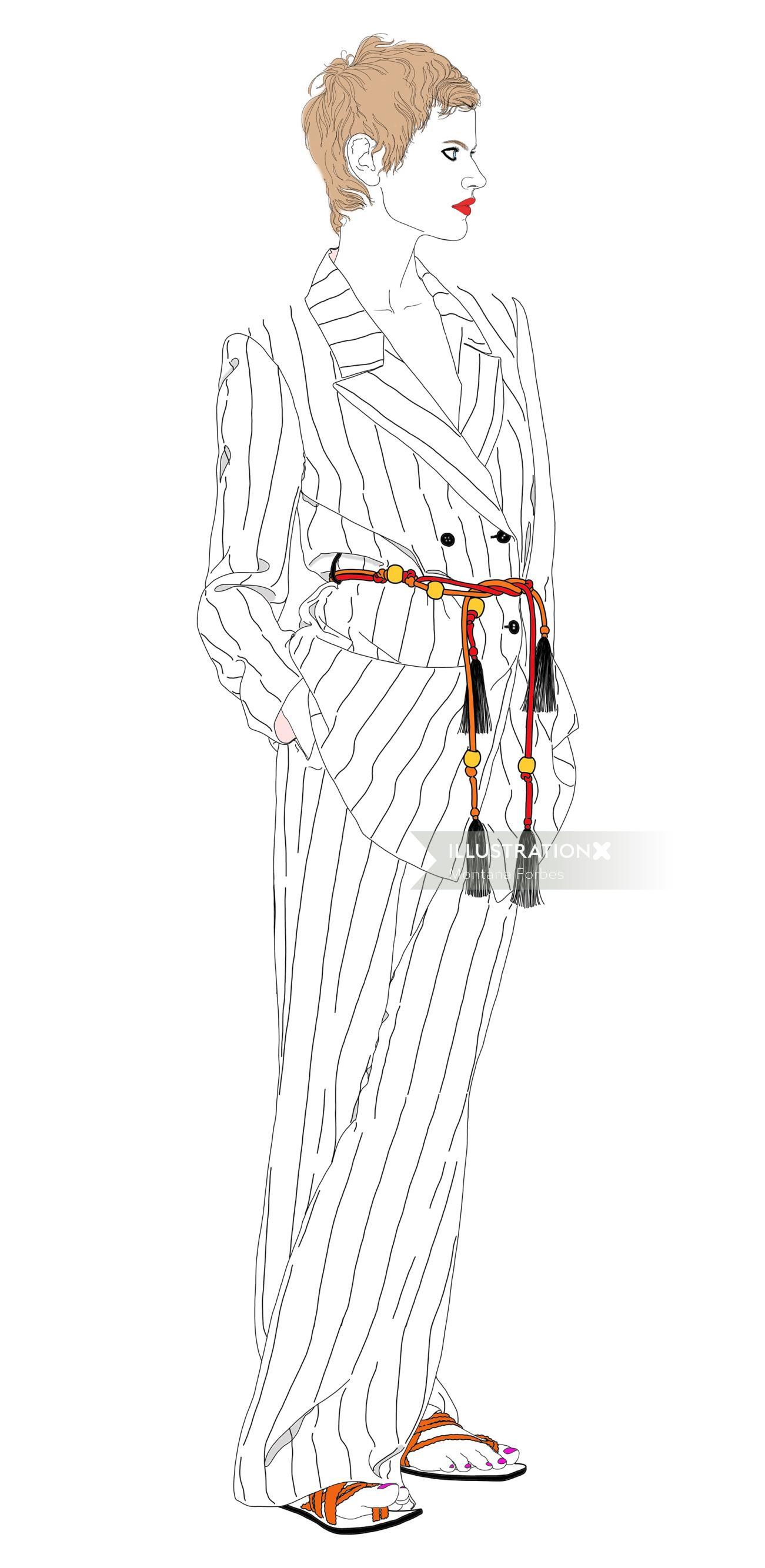 Fashion Striped suit