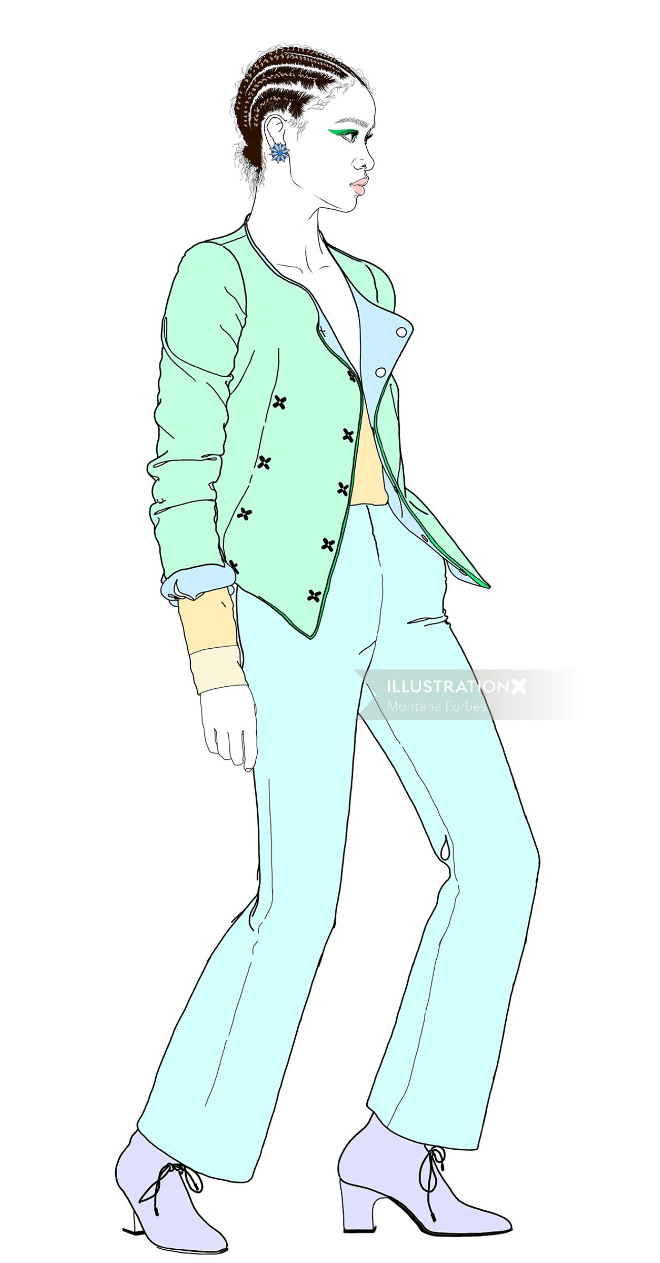 Fashion Pastel coloured suit