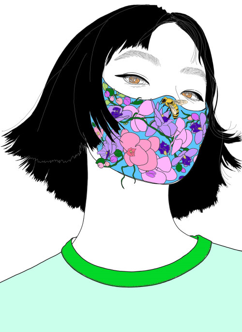 Fashion beauty with face mask