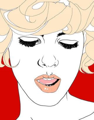 Lady in blonde hair - Fashion artwork
