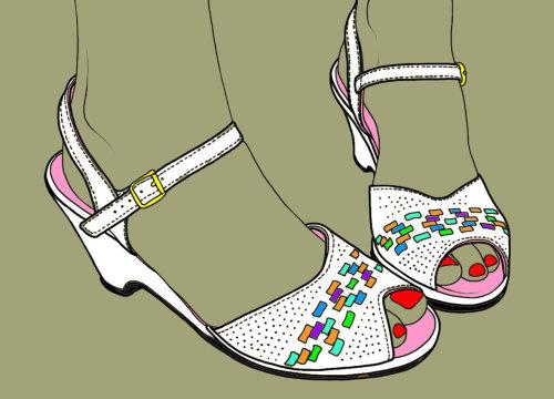 楔形鞋插图,蒙大拿州《福布斯》