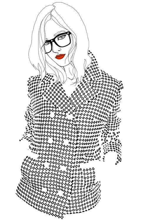 穿着大衣的女孩插画,蒙大拿州《福布斯》