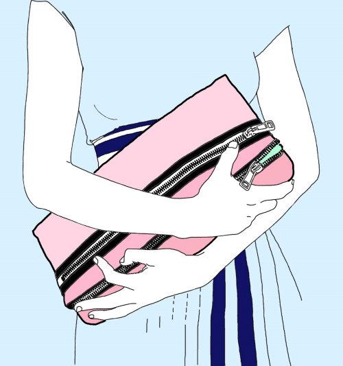 Feminine fashionable hand bag