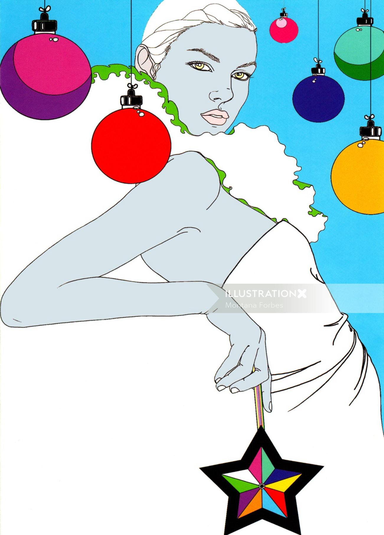 Female fashion illustration by Montana Forbes