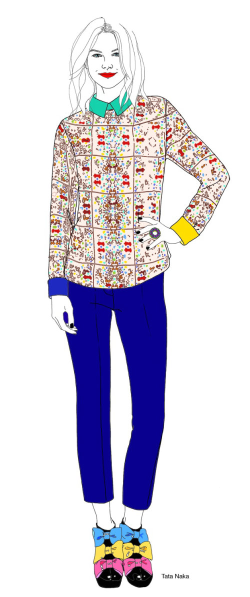 Tata Naka outfit illustration by Montana Forbes