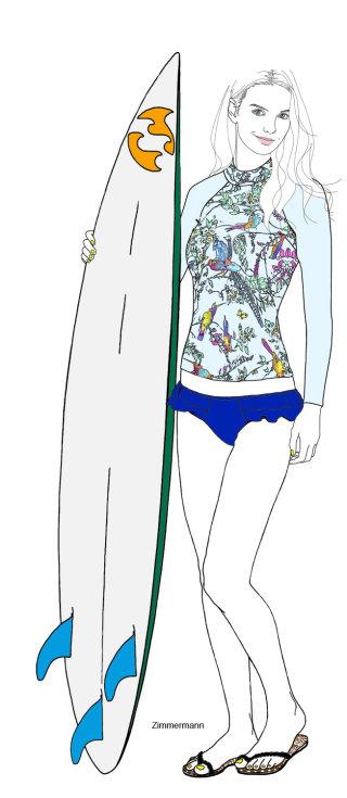 Lady in swimsuit