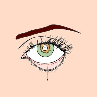 Closed eye illustration by Montana Forbes