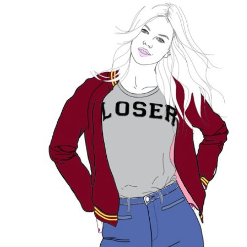 Teenage girl fashion illustration by Montana Forbes