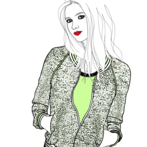 Fashion female model illustration by Montana Forbes