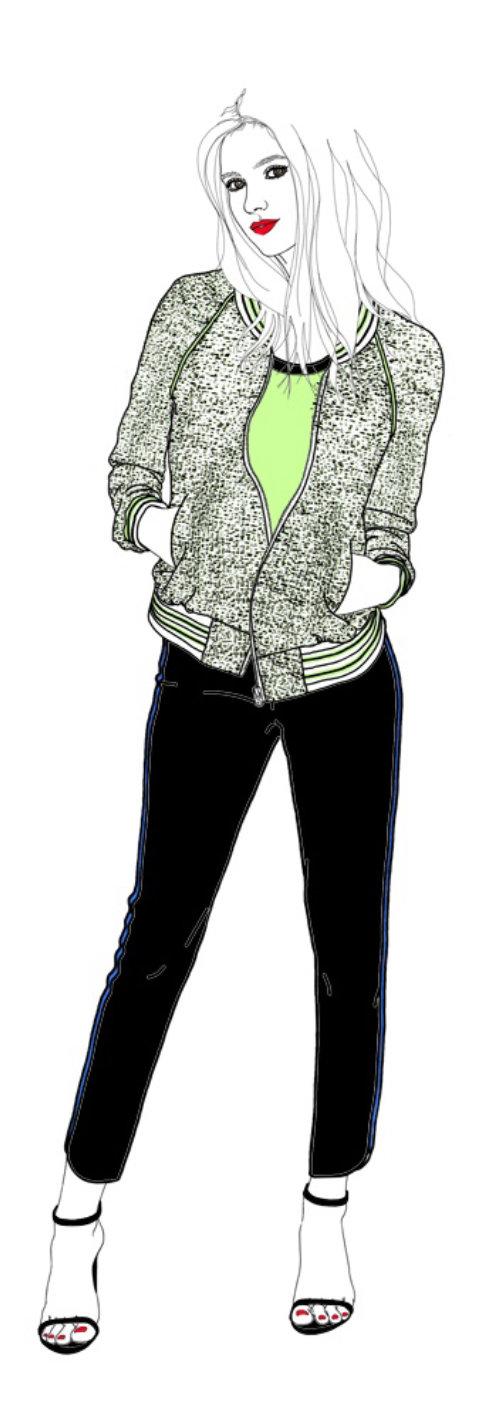 蒙大拿州福布斯的时尚女模特插图