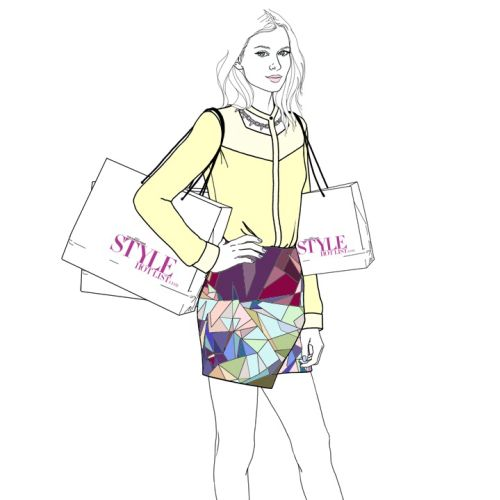Girl shopping illustration by Montana Forbes