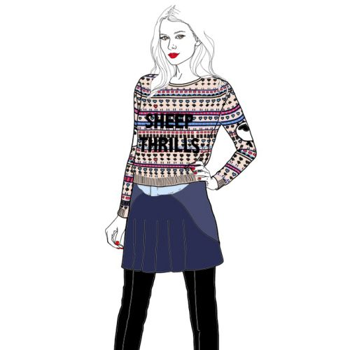 Fashion lady illustration by Montana Forbes