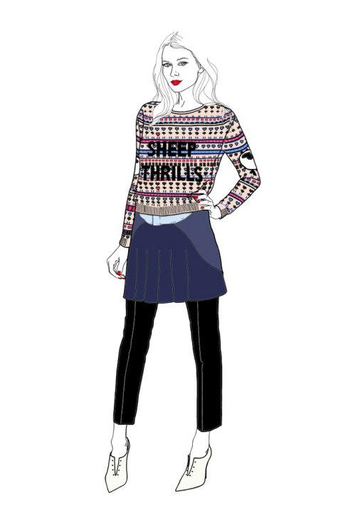时尚女士插画,蒙大拿州《福布斯》