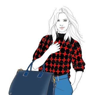 Lady fashion for Radley- Illustration by Montana Forbes