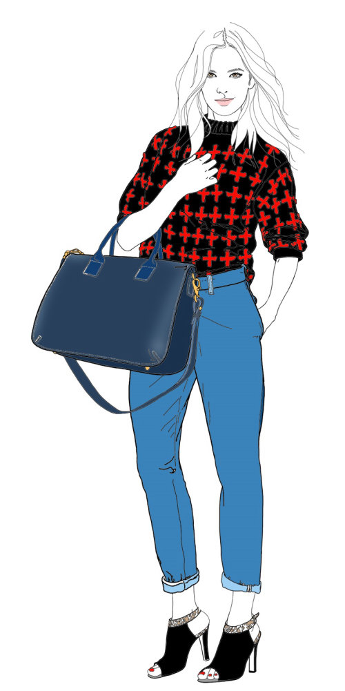 Lady fashion for Radley- Ilustración de Montana Forbes