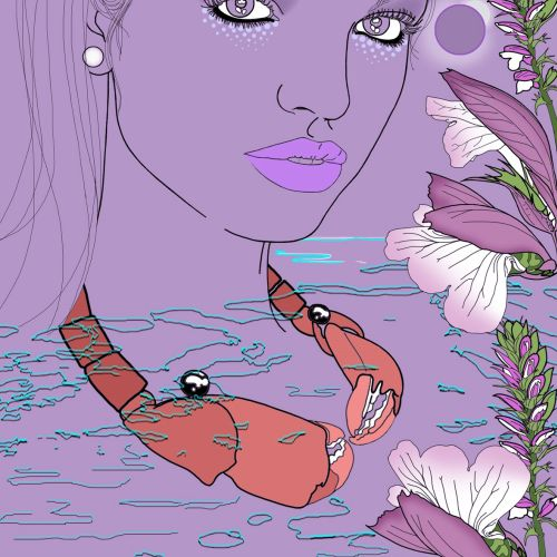 Woman beauty illustration by Montana Forbes
