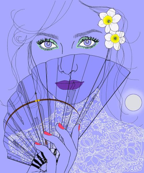 女人时尚插画,蒙大拿州福布斯