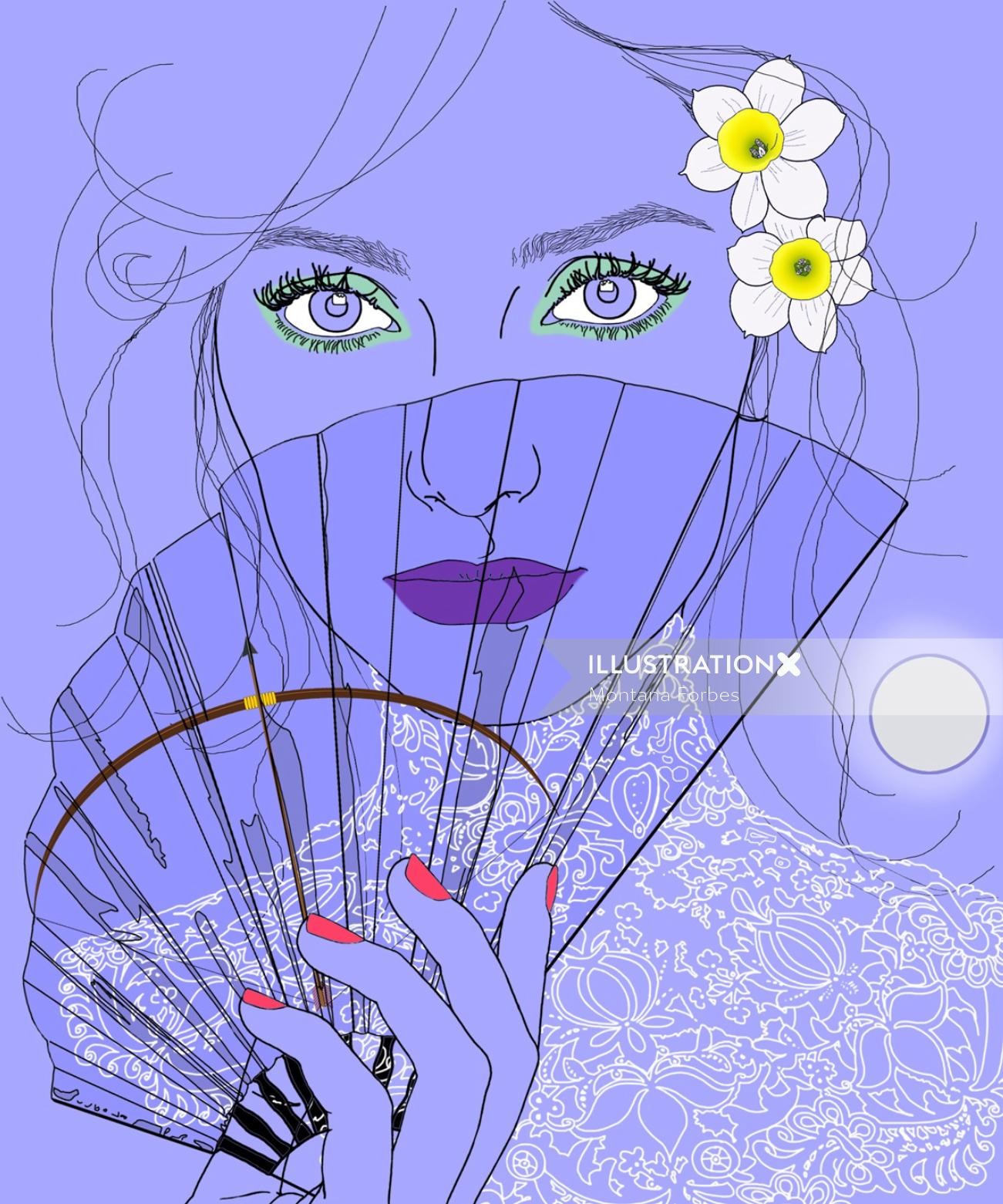 Woman fashion illustration by Montana Forbes