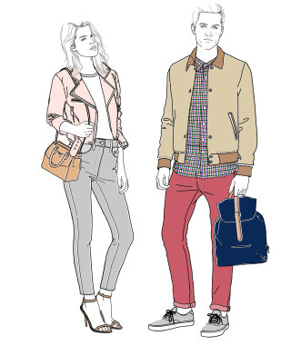 Illustration for Harrods casual wear by Montana Forbes