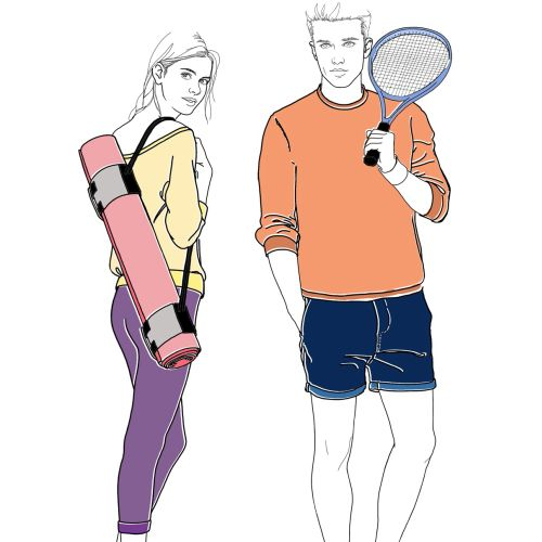Illustration for Harrods sports wear by Montana Forbes