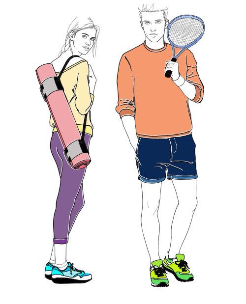 蒙大拿州《福布斯》为Harrods运动服绘制插图