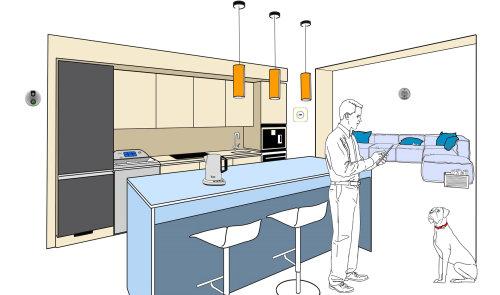 Modern kitchen illustration