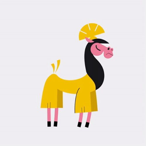 Gif animation of horse by motion club