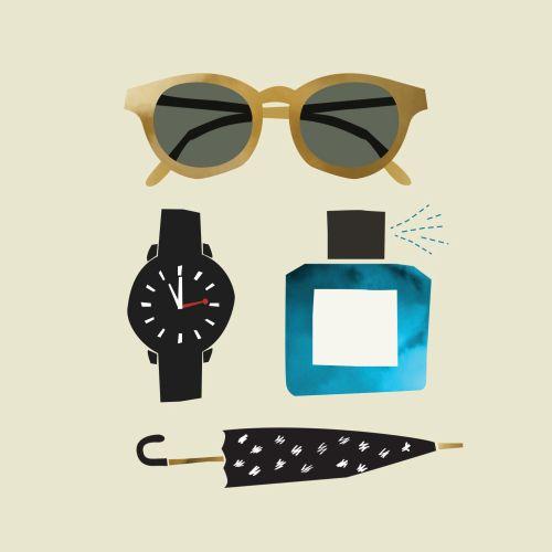 Fashion accessories digital drawing