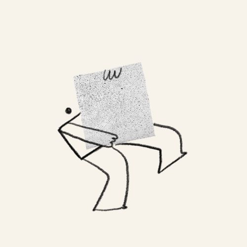 Digital Illustration of Man with handbag