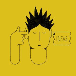 Social media post on creativity illustration