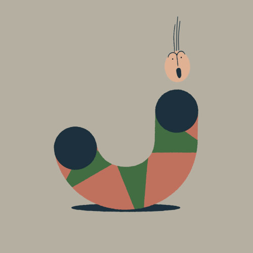 Character inspired by mid-century modern design by motion club