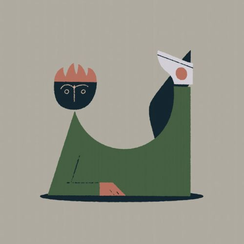 Animated video of playful character