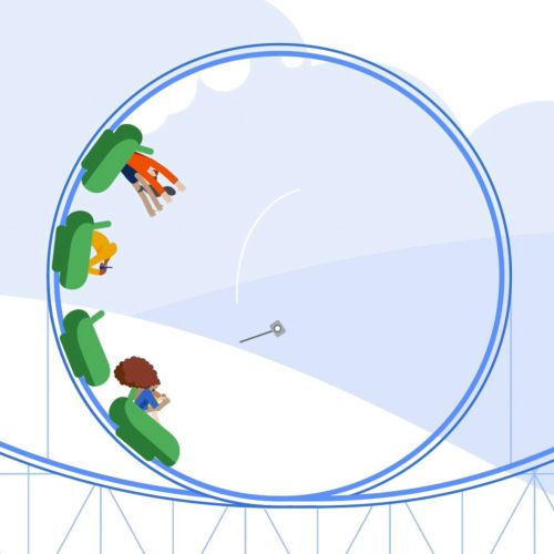 Google rollercoaster sequence animation
